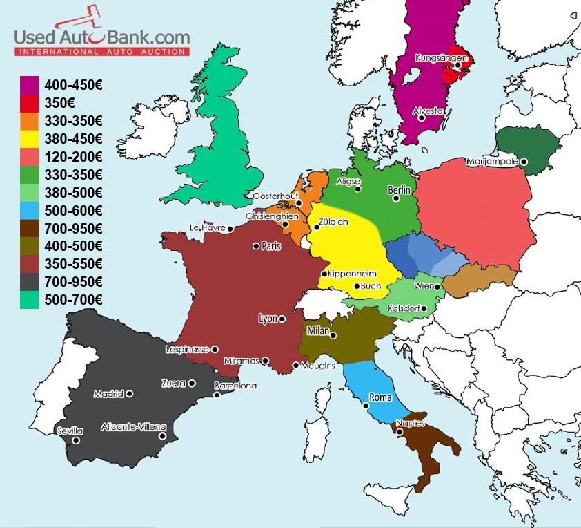 Kainų žemėlapis